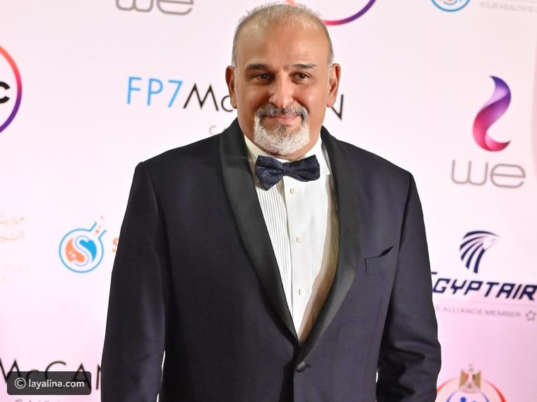 Gamal Soliman is a classic look at the opening of the Cairo Film Festival